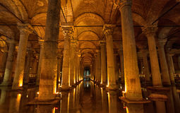 Basilica Cistern in Istanbu Royalty Free Stock Photography