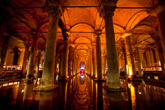 Basilica cistern in Istanbu Stock Image