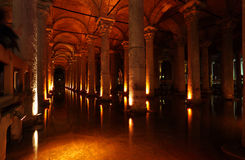 The Basilica Cistern in Istanbul Royalty Free Stock Photography