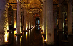 The Basilica Cistern in Istanbul Royalty Free Stock Photos