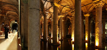 Basilica Cistern in Istanbul Royalty Free Stock Images