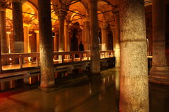The Basilica Cistern in Istanbul Royalty Free Stock Photo
