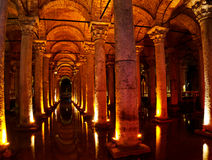 Basilica Cistern in Istanbul. The Basilica Cistern in Istanbul, build during the Byzantine empire stock photos