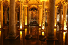 Basilica Cistern in Istanbul City Royalty Free Stock Image