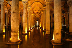 Basilica Cistern in Istanbul City Stock Image
