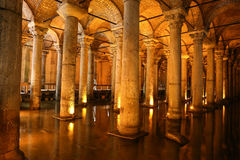 Basilica Cistern in Istanbul City Royalty Free Stock Images