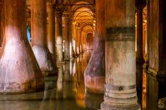 Basilica cistern, Istanbul Stock Image