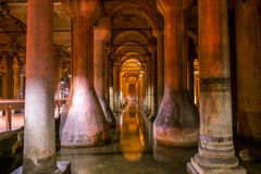 Basilica cistern, Istanbul Royalty Free Stock Photo
