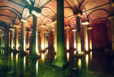 Basilica Cistern in Istanbul Stock Images