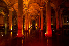Basilica Cistern Royalty Free Stock Photography