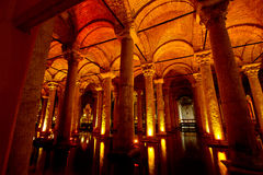 Basilica Cistern Istanbul, Turkey Royalty Free Stock Images