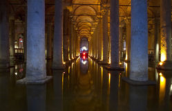 Basilica Cistern  in Istanbul Royalty Free Stock Image