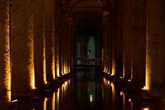 Basilica Cistern in Istanbul Stock Image