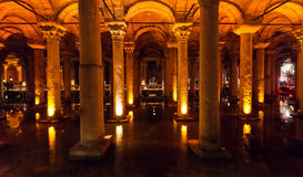 The Basilica Cistern in Istanbul, Turkey Royalty Free Stock Photos