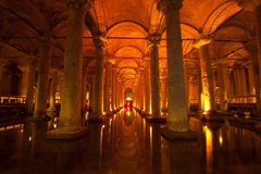 Basilica Cistern, Istanbul Royalty Free Stock Photos