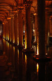 Basilica cistern, Istanbul Royalty Free Stock Photography