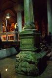 Basilica Cistern Medusa Royalty Free Stock Photos