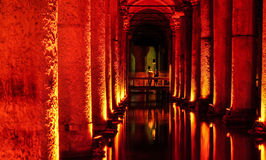 The Basilica Cistern Sunken Palace Royalty Free Stock Photos