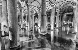 The Basilica Cistern (Sunken Palace, or Sunken Cistern), is Stock Photography