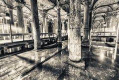 The Basilica Cistern (Sunken Palace, or Sunken Cistern), is Stock Image