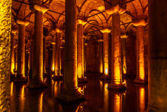 Basilica cistern, Turkey. Istanbul. Royalty Free Stock Photography