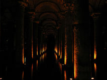 The Basilica Cistern - underground water reservoir Royalty Free Stock Photography