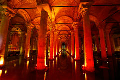 Basilica Cistern. Underground water storage Yerebatan Sarayi (Basilica Cistern), Istanbul, Turkey stock photography
