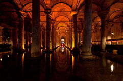 Basilica Cistern. Which was used as an onderground water storage system, Istanbul, Turkey Stock Image