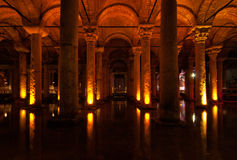 Basilica Cistern. Which was used as an onderground water storage system, Istanbul, Turkey Royalty Free Stock Image