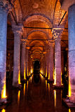 Basilica Cistern. Which was used as an onderground water storage system, Istanbul, Turkey Royalty Free Stock Photos