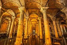 The Basilica Cistern, Yerabathan, Istanbul, Turkey. Columns of the Basilica Cistern, Yerebatan, Istanbul, Turkey stock photos