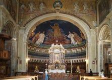 Basilica Cosma e Damiano- altar Royalty Free Stock Photography