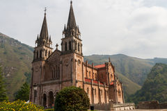 Basilica of Covadonga in Asturias Stock Images