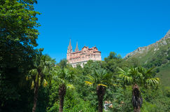 The Basilica of Covadonga Stock Image