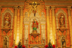 Basilica Cross Mary Statue Mission Santa Barbara California Royalty Free Stock Images