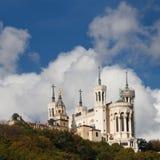 basilica dame de fourviere france lyon notre Royaltyfria Bilder
