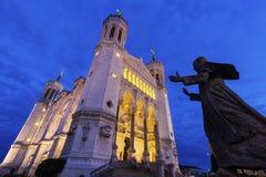 basilica dame de fourviere lyon notre Fotografering för Bildbyråer