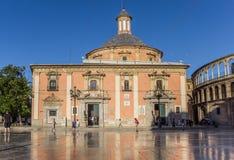 Basilica de Λα Virgen με την αντανάκλαση στα μαρμάρινα κεραμίδια σε Va Στοκ φωτογραφία με δικαίωμα ελεύθερης χρήσης