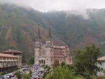 Basilica de Covadonga church stock image