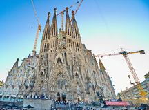 The Basilica de la Sagrada Familia, Barcelona Royalty Free Stock Images