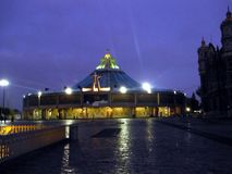 Basilica de la Virgen de Guadalupe. Y Antigua Basilica, Mexico DF Stock Photography
