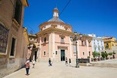 Basilica de la Virgen de los Desamparados en Valencia Imagenes de archivo