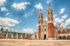 Basilica de Ocotlan Tlaxcala. Mexico stock images
