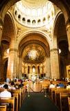 Basilica de Sacre Coeur教会在巴黎 图库摄影