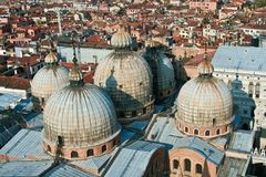 Basilica de San Marco from the top Stock Images