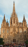 The Cathedral of the Holy Cross and Saint Eulalia. Barcelona. Stock Images