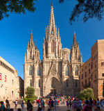 The Cathedral of the Holy Cross and Saint Eulalia, Barcelona Royalty Free Stock Image