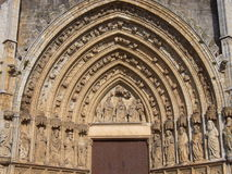 Basilica de Santa Maria, Castello d Empuries, Girona (Catalonia) Royalty Free Stock Photos