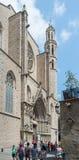 Basilica de Santa Maria del Mar. Barcelona, Spain. Stock Photography