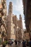 Basilica de Santa Maria del Pi Royalty Free Stock Image